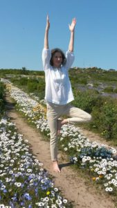 Picture of Sally Lennard of Noordhoek Yoga
