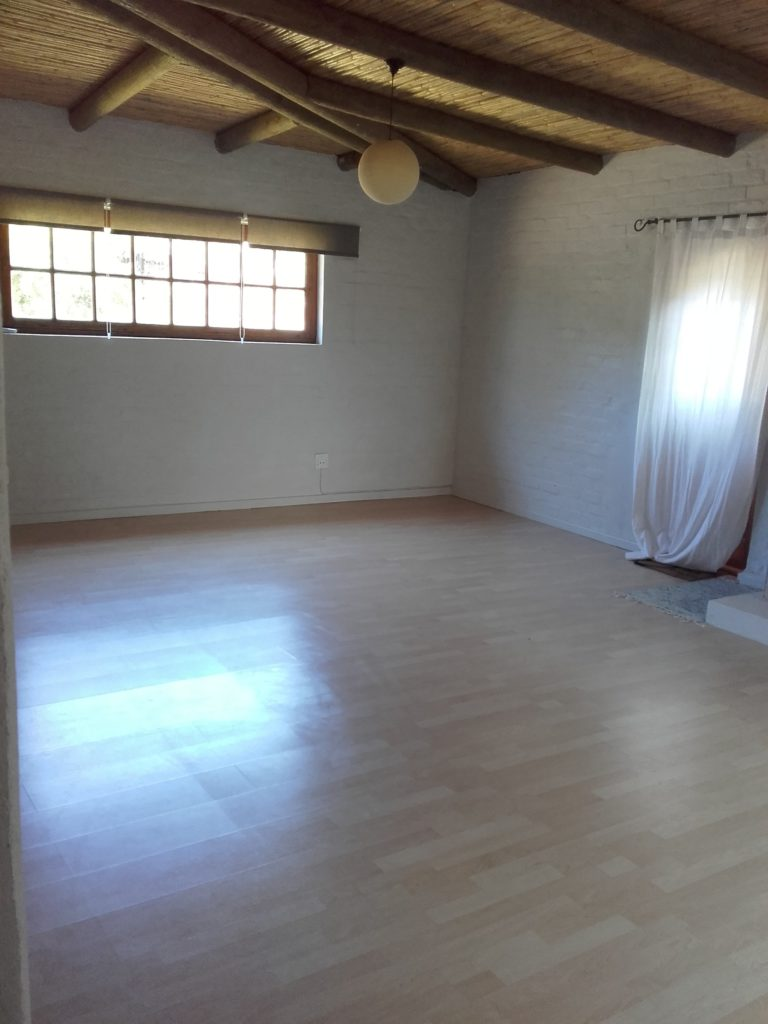 Picture of the Noordhoek yoga studio for hire